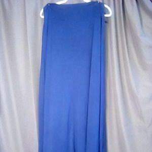 Bobeau Size 1X blue Maxi skirt